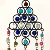 Peacock Hanging Chime with Beads and Bells Middle