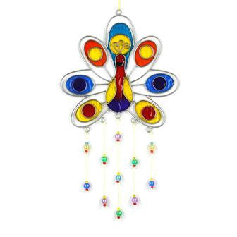 Peacock Resin Suncatcher with Beads Fair Trade In Your World