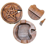 Pentacle Pentagram Puzzle Box Hand Carved from Indonesia