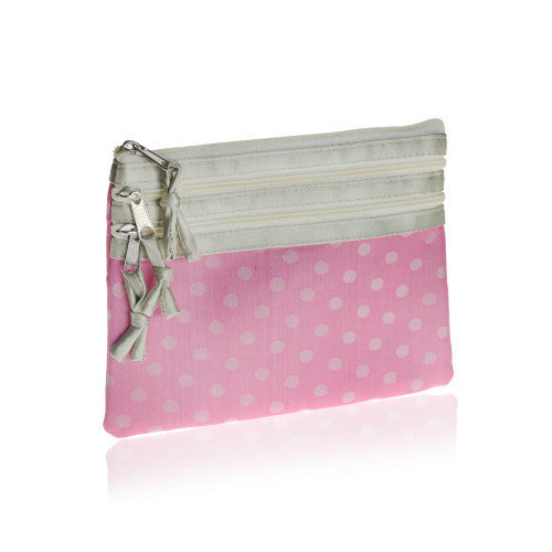 Pink Polka Cosmetic Purse