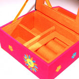 Pink and Navy Jewellery Box from India Fair Trade