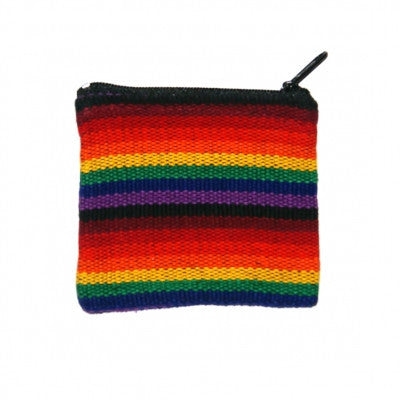 Rainbow Cotton Coin purse from Nepal Fair Trade