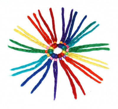 Rainbow Felt Hair Band Funky Fair Trade Accessories Nepal