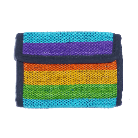 Rainbow Gheri Cotton Wallet Fair Trade from Nepal