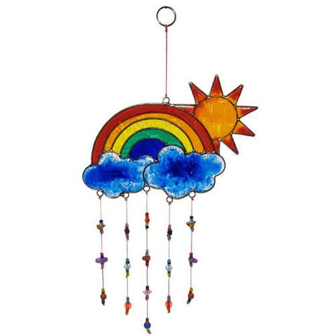 Rainbow Sun & Clouds Suncatcher Ethical Home & Gift