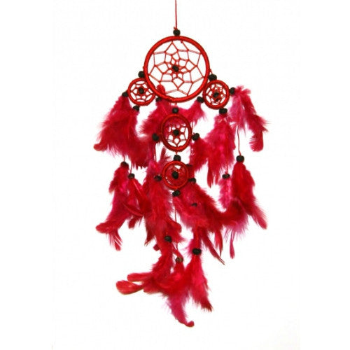 Raspberry Red Nylon Dreamcatcher Fair Trade from Bali