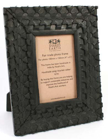 Recycled Tyre Picture Photo Frame Fair Trade from India