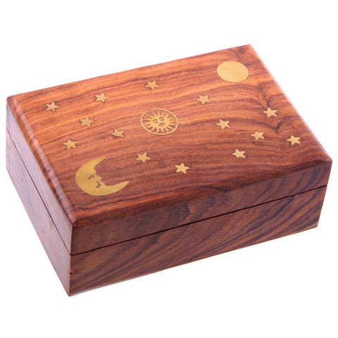 Sun, Moon and Stars Trinket Box Made in India Home & Gift Ideas