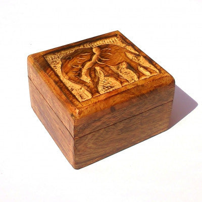 Small Mango Wood Elephant Box Fair Trade In Your World Wooden Boxes