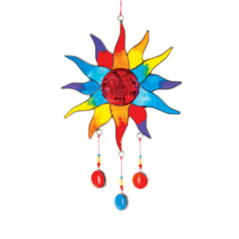 Sun Face Suncatcher with Beads Fair Trade from Bali