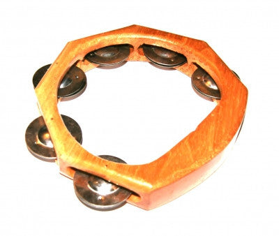 Wooden Tambourine Fair Trade Musical Instruments Percussion