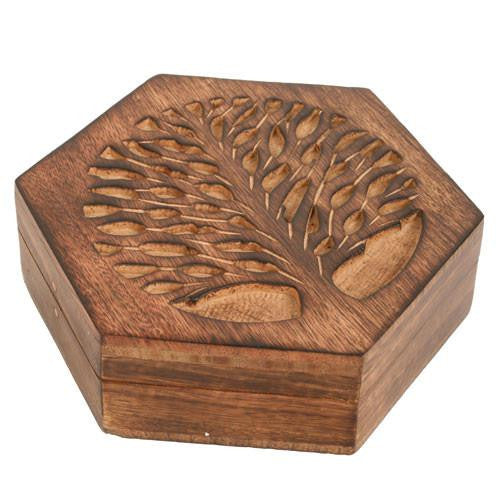 Tree of Life Hexagon Box Fair Trade Home & Gifts