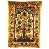 Tree of Life Green Cotton Bedspread Wall Hanging India