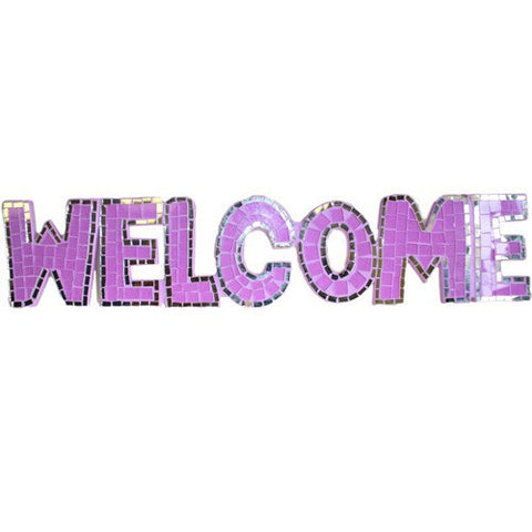 Welcome Mosaic Wall Art Home Decor Handcrafted