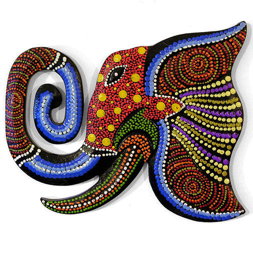 Dotty Elephant Wall Plaque - In Your World - Fair Trade