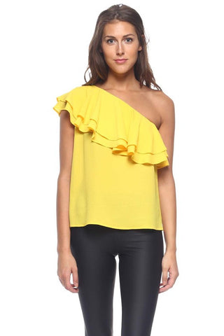 Sunshine Ruffle Top