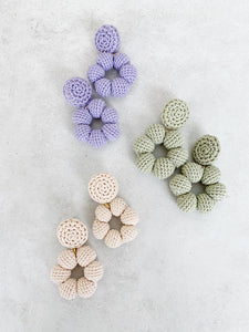 Bria crochet bonbon earrings