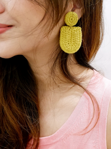 Aida crochet mod earrings
