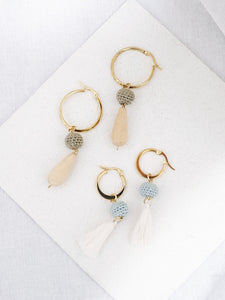 Minka beaded hoop earrings