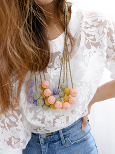 Malena crochet bead necklace