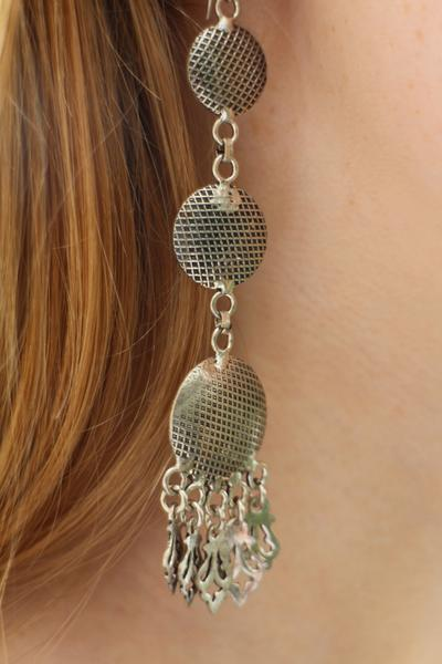 [Metal boho drop style earrings gypsy bohemian style jewelry or jewellery]- The Namaste Boutique