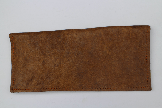 [Rustic brown leather wallet gypsy bohemian style purse or wallet]- The Namaste Boutique