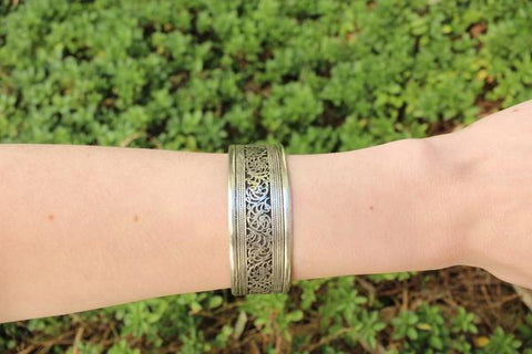 [Filigree adjustable cuff gypsy bohemian style jewelry or jewellery]- The Namaste Boutique