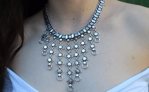 [Metal necklace gypsy bohemian style jewelry or jewellery]- The Namaste Boutique