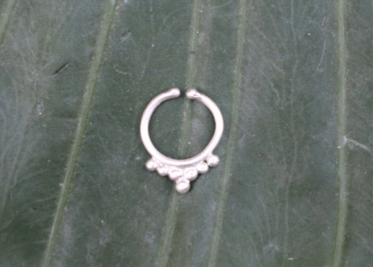 [Sterling silver faux septum gypsy bohemian style jewelry or jewellery]- The Namaste Boutique