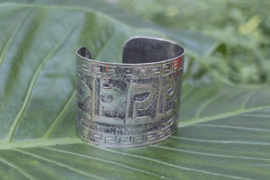 [Large mantra cuff gypsy bohemian style jewelry or jewellery]- The Namaste Boutique