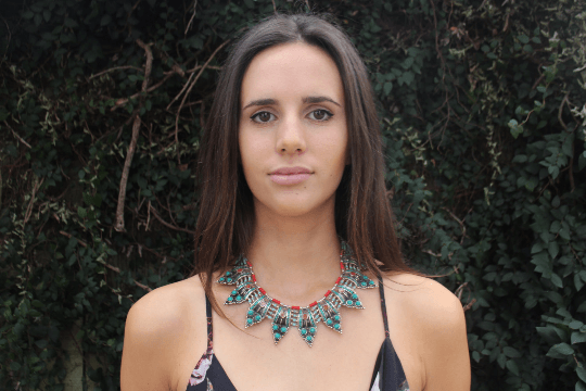 [Handmade bohemian style turquoise & coral necklace gypsy bohemian style jewelry or jewellery]- The Namaste Boutique