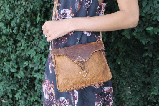 [Rustic leather messenger bag  gypsy bohemian style bag or handbag]- The Namaste Boutique