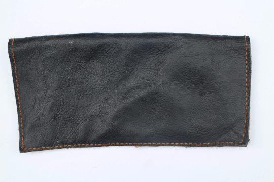 [Black leather wallet gypsy bohemian style wallet or purse]- The Namaste Boutique
