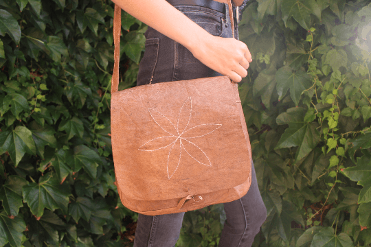 [Flower leather messenger bag gypsy bohemian style handbag or bag]- The Namaste Boutique