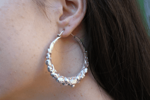 [Sterling silver hoop earrings gypsy bohemian style jewelry or jewellery]- The Namaste Boutique