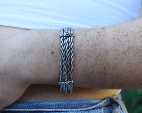 [Delicate metal bracelet gypsy bohemian style jewelry or jewellery]- The Namaste Boutique