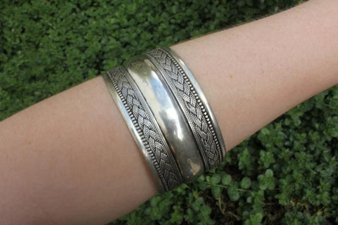 [Large metal adjustable cuff Gypsy bohemian style jewelry or jewellery]- The Namaste Boutique