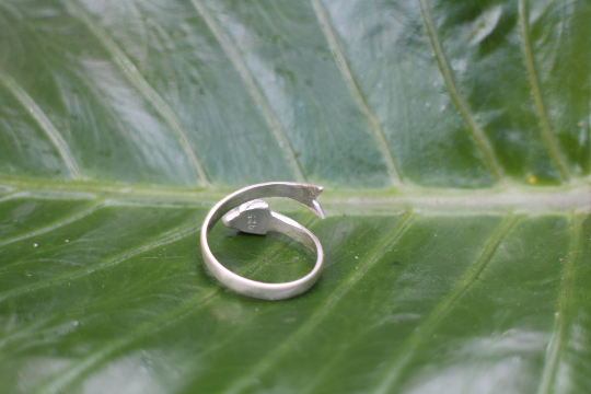 [Sterling silver fish adjustable ring bohemian boho gypsy jewellery jewelery hippie]- The Namaste Boutique