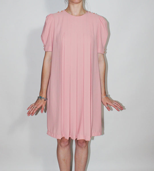 Pink Pleats Dress