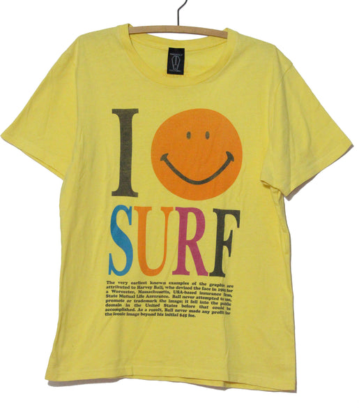 Harvey Ball Vintage I Love Surf T Shirt