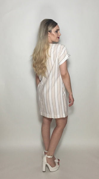 Custom Vintage Linen Shift Dress