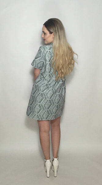 Green Woven Safari Dress