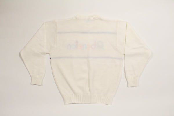White 90's Benetton Knitted Sweater