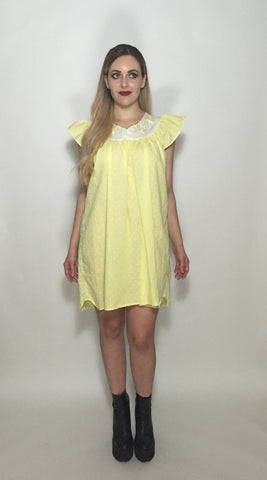Yellow Babydoll Dress