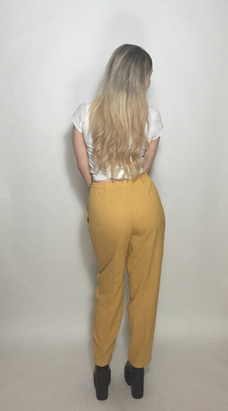High Waisted Yolk Trousers