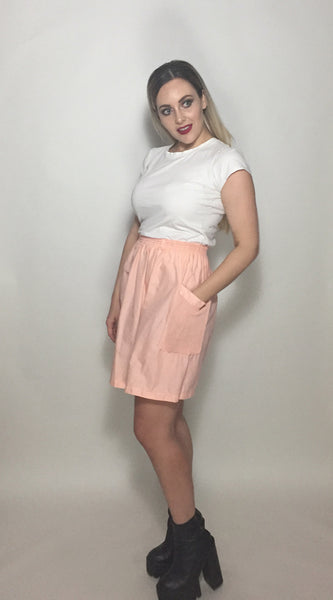 Pink Cotton Tennis Skirt