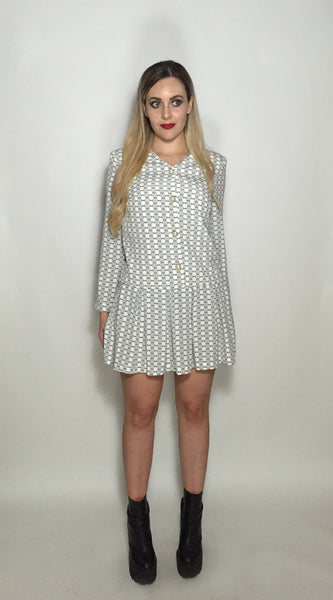 Grey Bullseye Dress