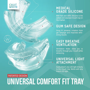 Universal Comfort Fit Teeth Whitening Tray + Palm Case