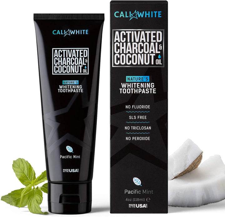 Charcoal and Organic Coconut Teeth Whitening Toothpaste 4oz