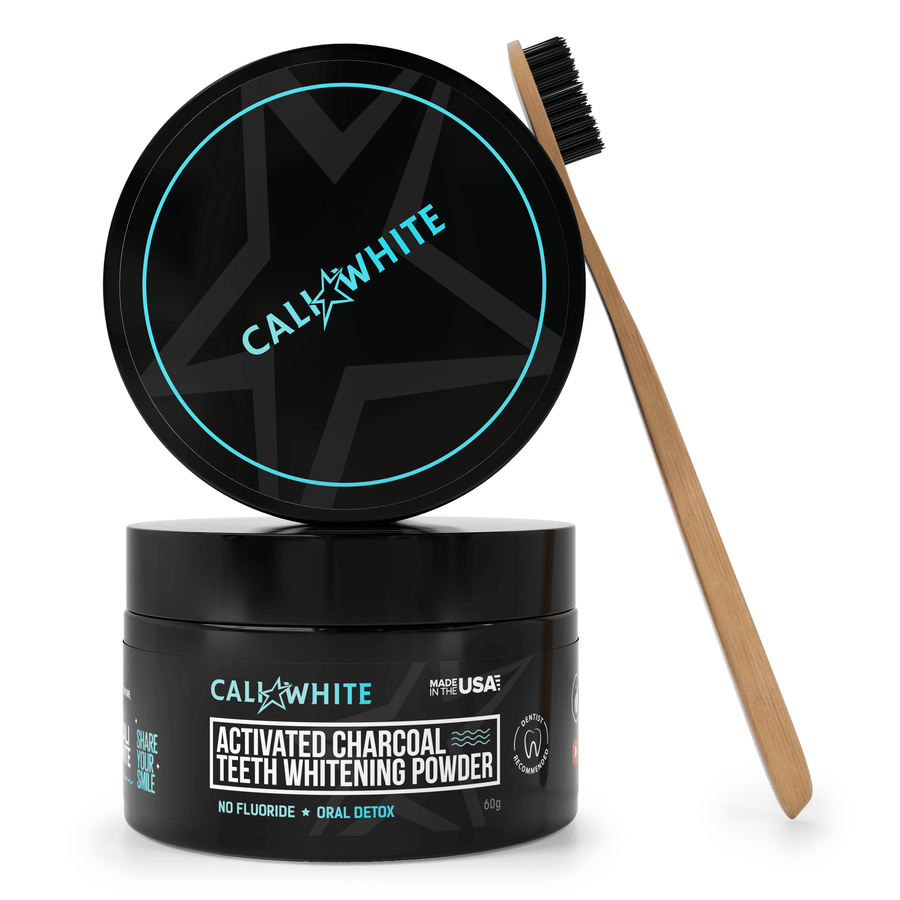 Charcoal Teeth Whitening Powder + Bonus Charcoal Toothbrush - Crest Whitestrips United Kingdom